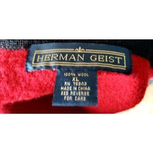 Vintage Jackets & Coats - ☆SOLD☆ Vintage Red Boiled Wool Embroidered Vest XL